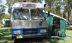 1969 Bedford bus converted to motorhome. Has a 466