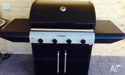 Near New 4 Burner BBQ. Very good condition. Upgraded