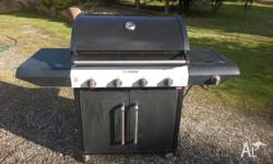 Beefmaster Barbeque Cart with Gas Bottle Pictures show