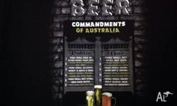 "Brand New. Funny Adult T Shirt - ""The Beer Commandments"