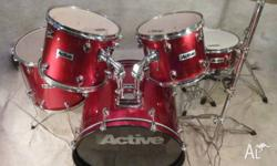 Beginners 5pce Red Drum Kit in Excellent Condition! [DK