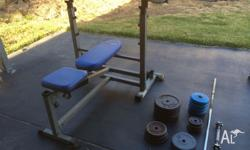 - Bench press - Barbell - Dumbell - Weights - 115kg -