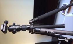 Used twice. No marks. Great lightweight tripod with