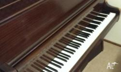 For sale is an upright piano. Every key works but I can