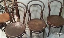 Bentwood chairs for sale. Approx. 18 chairs in various