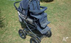 FEATURES: - Aluminium lightweight pram with a patented