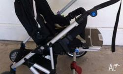 Bertini X6 series 2011 model pram set. Comes with pram,