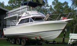 Twin V6 4.3L Mercruisers 170BHP, comes on a registered