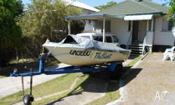Boat and trailer. Trailer rewired, has new axle and
