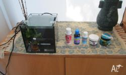 BETA FISH TANK AND ACCESSORIES, ALMOST NEW, WORTH OVER