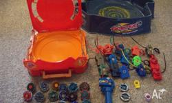 Total Beyblade clearance! 15 launchers, 18 beyblades, 1
