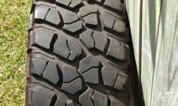 I have for sale 5 x 315/75/16 BFG Mud Terrain Tyres 2 x
