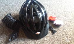 Bike accessories (Helmet, Lock, led lights) . Bargain