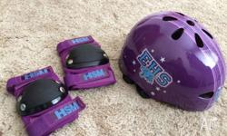 Brand: high school musical Helmet with pads suits girls