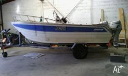 Cairns custom craft .4.3 m Ali cat.twin Honda 30 HP 4