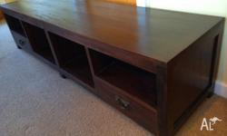 hard wood low line TV table/ entertainment unit