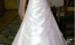 Beautiful, Elegant Wedding Gown with train for sale,