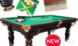 7FT SLATE SNOOKER TABLE COME WITH DVD INSTALL