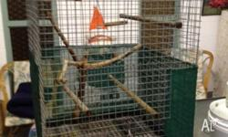 62cmx62cmx90cm bird cage for sale. Ideal for Cockatiels