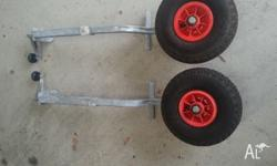 BLA Tinnie Mover - Pneumatic Wheels Tinnie mover that