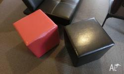 new black and red color ottoman cube, in very good