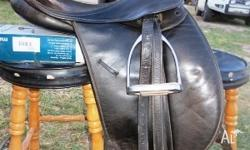 17Inch Black Bates Caprilli Great work saddle Has a