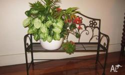 Cast Iron Flower Bench Planter More and more home