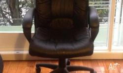 Swivel chair, very comfortable, slight mark on right