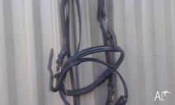 black pony bridle with BNWT drop nose band (no bit or
