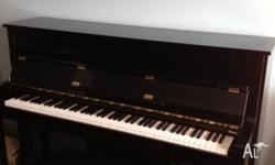 Excellent condition Black Kawai upright piano With