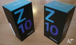 Blackberry z10 Unlocked in box, comes with 1 year