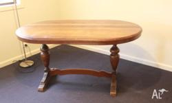 Antique Oval Blackwood table. Very solid table. Good