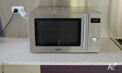 Stainless steel microwave oven with grill - reliable