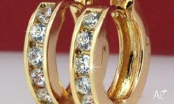BLING CLEAR CRYSTAL 18CT YELLOW GOLD FILLED WOMEN'S