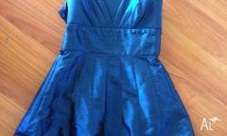 Very good condition blue cocktail dress size M No Marks