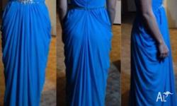 Beautiful bright blue gown, great condition, may need a