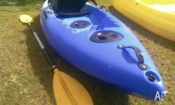 Blue Kayak only used a few times, comes with seat and