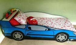 I have a kids car bed base blue in good condition would