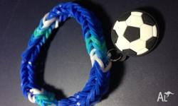A new loom bracelet made with different ranges of blue