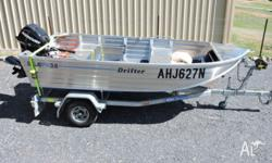 BLUEFIN 3.6 m in new condition, aluminium, Nyalic clear