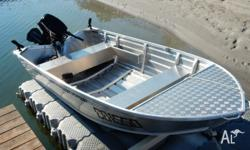 2013 BLUEFIN VARMINT 3.8m with 2013 30hp Electric Start