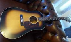 Classic Dreadnought style Blueridge guitar with hard