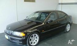 BMW,3,E46,1999, RWD, Black, 4D SEDAN, 1895cc, 87kW,