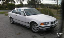 BMW 325 SPORTS COUPE 1992, 145000KMS, 5MTHS REG, WHITE