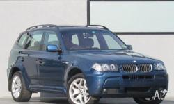 BMW,X3,E83 MY06,2006, Four Wheel Drive, Blue M Sport,