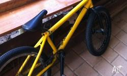 Yellow custom bmx bike fly bike 3 amegoes frame odyssey