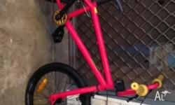 Red bmx bike for sale as my son doesn't ride it