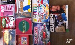 11 x board games for sale perfect for any family.
