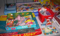 A number of board games and other games and puzzles for