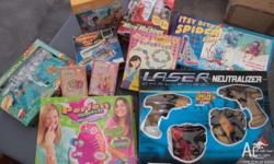 the lot $20 board games,puzzels,laser game,play cards